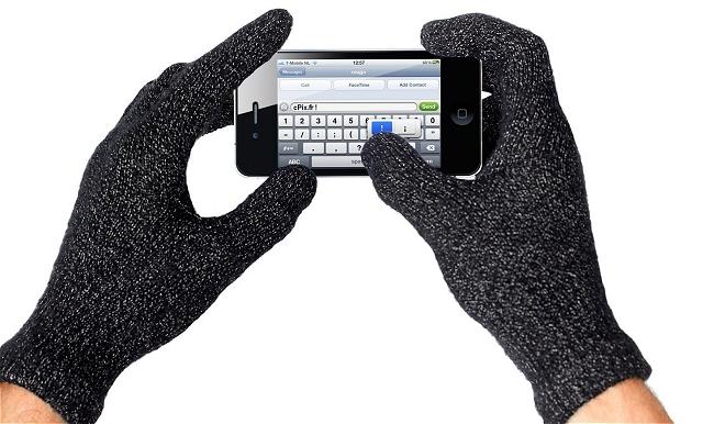 Paire de Gants noirs tactile iPhone