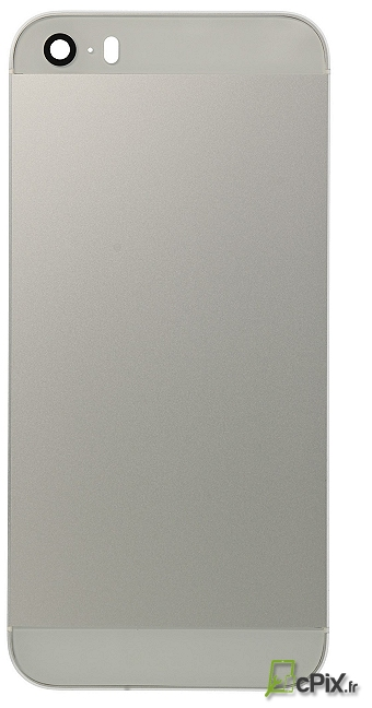 Châssis arriere Argent (gris et blanc) iPhone 5S