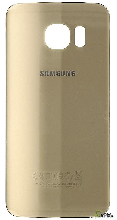 Vitre arrière Or Samsung Galaxy S6 Edge